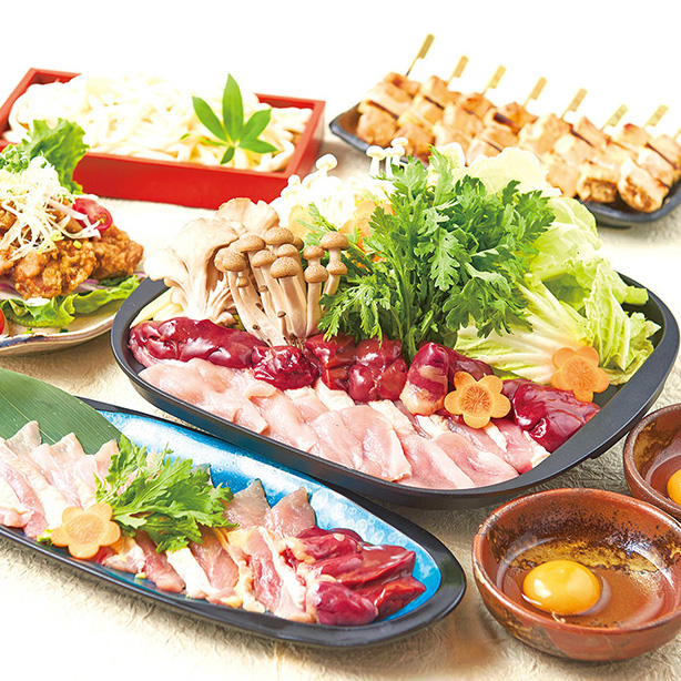 日南鶏のすき焼コース<全8品>